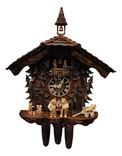 Montag Steins & Clocks Eight Day Cuckoo - Reloj de pared (fabricado a mano, con osos de peluche)