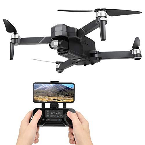 F11 4K Pro Drones de Control Remoto Plegable con cámara para Adultos Cámara Ajustable UHD 4K Video en Vivo Tiempo de Vuelo de 26 Minutos Gris Plateado (Batería incorporada + Estuche de Transporte