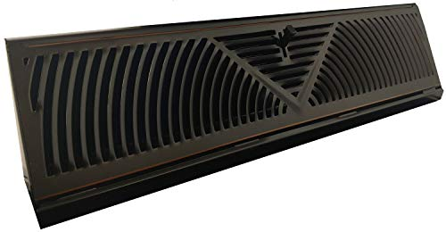 Oil-Rubbed Bronze Finish Baseboard Register (18 Inch, Oil Rubbed Bronze)