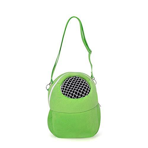 Goodplan Tragetaschen einfach tragbare kleine Tierbedarf Reise-Handtaschen für Hamster Rat Hedgehog Rabbit (Green)