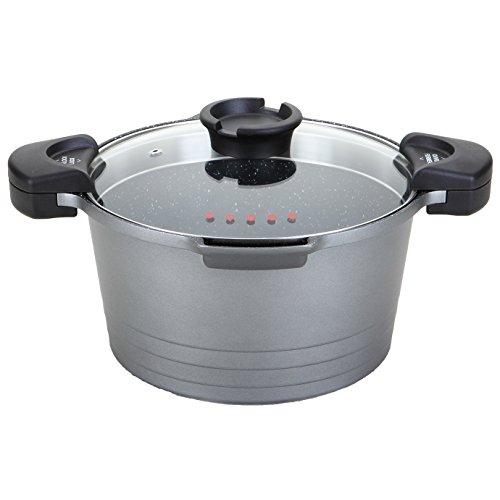 Rossetto - Cocedor para pasta, 28 cm, 8 L, gris plateado, revestimiento...