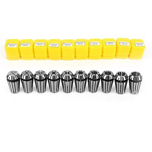 10 pezzi Set di pinze, Set di pinze a molla ER16 Pinza di serraggio per macchina per incidere di CNC, Portautensili per tornio