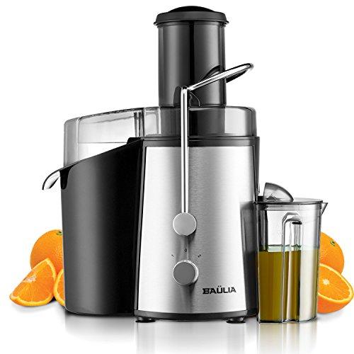 Baulia JM804 Electric Juice Fountain Juicer Machine Extractor, Bpa Free, Powerful 850W, Black