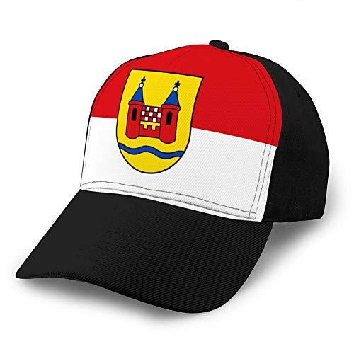 shdgfhdfghdf 607 Unisex Mesh Hat Adult Baseball Caps Sonnenschutzhut Snapback Cap Flagge von schwelm in Nordrhein Westfalen Deutschland Mesh Hat