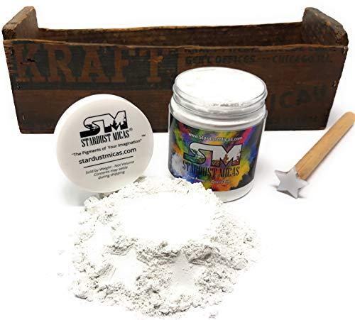 Organic All-Natural Cosmetic Grade Mica Powder, Mica Powder, Clear Mica Powder, Cosmetic Grade Mica, Organic Mica Powder for Makeup, Cosmetic Making Kit, Powders Cosmetics (Just Mica, 72 Gram Jar)