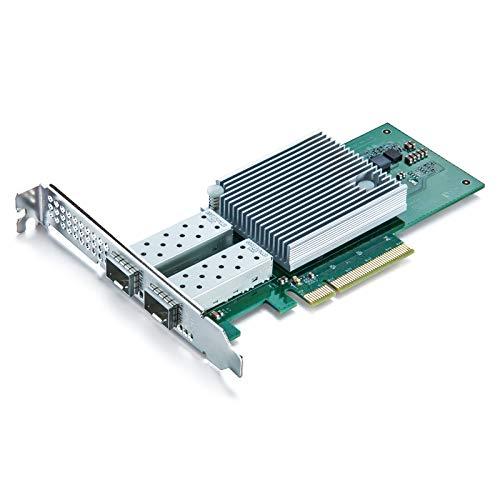 10 GB PCI E NIC Netzwerkkarte Dual SFP Port PCI Express Ethernet LAN Adapter unterstutzt Windows ServerWindowsLinuxESX vergleichbar mit Intel X710 DA2