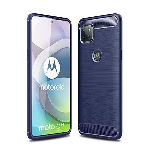 TingYR Cover per Motorola Moto G 5G, Ultra Sottile di Gomma, Ottima Cover Antiurto TPU Flessibile, Custodia Case per Motorola Moto G 5G Smartphone.(Blu)
