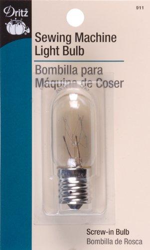 Dritz 911 Sewing Machine Incandescent Light Bulb, Screw-In