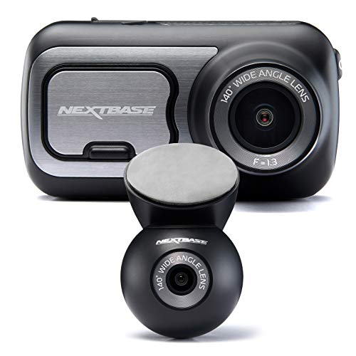 Nextbase 422GW Full 1080p HD In Car Dash Cam Camera- Bluetooth- WIFI- GPS- Night Vision, SOS Emergency- With Rear Dash Cam, Full Rear View + Full Front View…