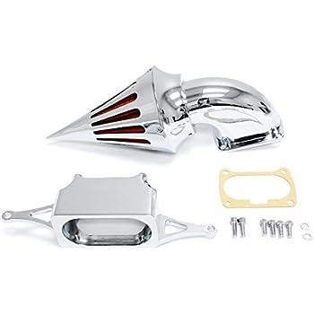 Kapsco Moto Motorcycle Chrome Spike Air Cleaner Intake Filter For 2005-2008 Yamaha V-Star 1100