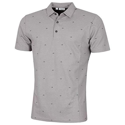 Calvin Klein Herren Monogramm Poloshirt - Greymarl - M.