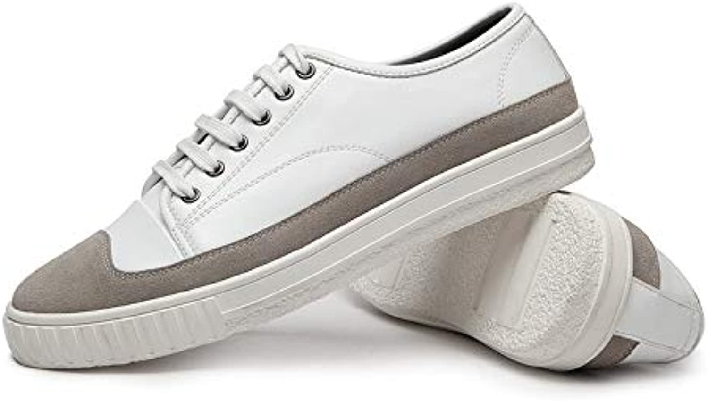 LOVDRAM Herrenschuhe Casual Herrenschuhe Mode Wild Weiß Schuhe Fashion Lace Herrenschuhe