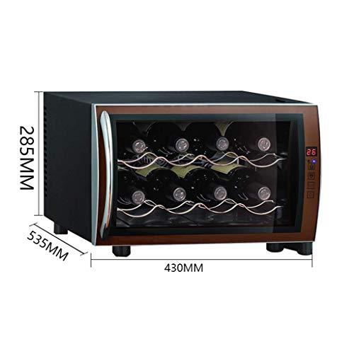 LYB Kleiner thermoelektrischer Weinkühler - Rotwein Weinkühler mit konstanter Temperatur und Luftfeuchtigkeit - Intelligenter elektronischer Chip-Zigarren-Gefrierschrank - Hochwertiger M