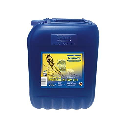 Leprinxol 20 Liter Synth Premium 5W30 MOTORÖL V W Norm 502 00, 505 00, 505 01; O P E L GM Dexos 2; ACEA C3; API SN; MB 229.51, 229.52; B M W LL-04 5W-30