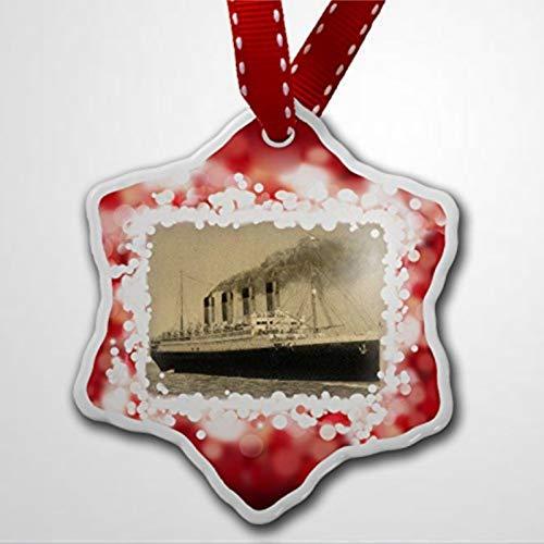 BYRON HOYLE Christmas Ornament Titanic Ship Red Christmas Ornaments Pandemic Xmas Decor Wedding Ornament Holiday present