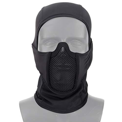 Pasamontañas Aoutacc, máscara de malla para airsoft,