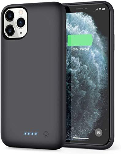 iPosible Funda Batería para iPhone 11 Pro MAX, [7800mAh] Funda Cargador Portatil Batería Externa Ultra Carcasa Batería Recargable Power Bank Case para iPhone 11 Pro MAX [6.5 Pulgadas]