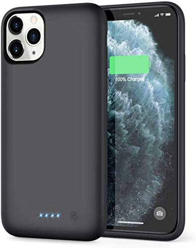 iPosible Cover Batteria per iPhone 11 PRO Max, 7800mAh Cover Ricaricabile Custodia Batteria Cover Caricabatteria Battery Case per iPhone 11 PRO Max [6.5''] Cover Power Bank Backup Charger Case