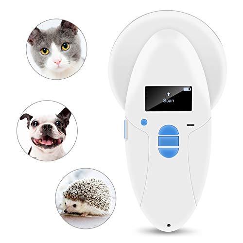RFID Chip Reader Scanner 134.2Khz Tierhaustier Mikrochip Anerkennungsleser für Haustier Tierkatze Hund Mikrochips Transponder im gepolsterten Fall