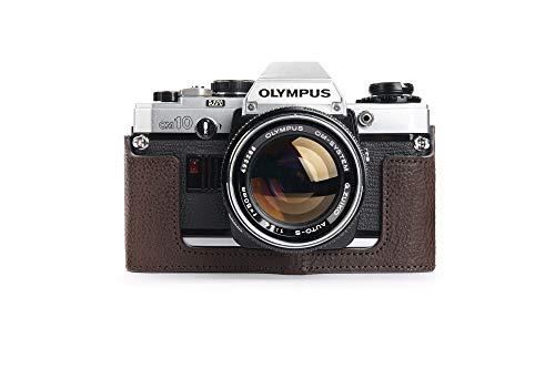 Zakao - Funda para Olympus OM-40, hecha a mano, piel auténtica, funda para cámara Olympus OM-10 OM-20 OM-30 OM-40 (sin mango) con correa de mano