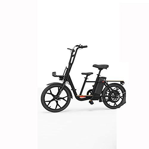 LILIJIA Bicicleta Eléctrica 18 Pulgadas 36v 10ah Bicicleta Eléctrica Multifunción Familiar para...