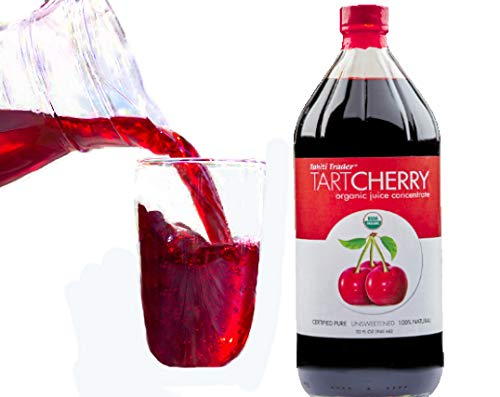 Tahiti Trader - Tart Cherry Organic Juice Concentrate 32 oz - Juice Detox Drink - Cherry Juice Concentrate - Tart Cherry Organic Concentrate - Organic Tart Cherry Concentrate - Antioxidant Blend