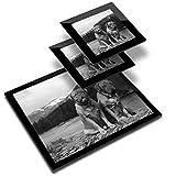 Destination 39048 - Mantel individual de vinilo, 20 x 25 cm y 2 posavasos de 10 x 10 cm, color burdeos