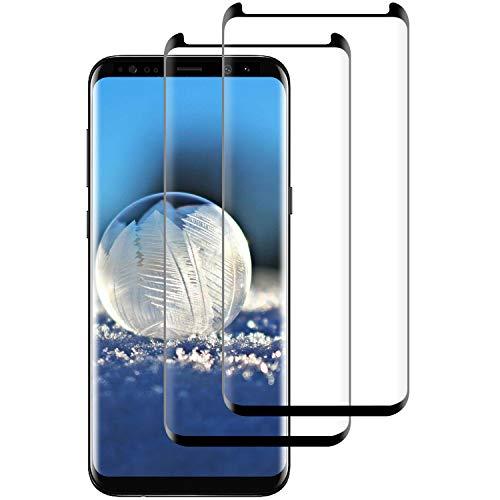 DASFOND 2 Pezzi,Vetro Temperato per Samsung Galaxy S8, Pellicola Protettiva Vetro per Samsung S8, 9H Durezza, Anti-Graffi, Anti Impronta, Senza Bolle, Facile Installazione, Samsung S8 Tempered Film