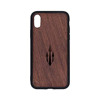 Tattoo Trends Poseidon Trident Tattoo  Rosewood - iPhone X/Xs  Design - iPhone x 10 Wooden Case - Luxury Slim & Lightweight Traveler Engraved Carrying Case