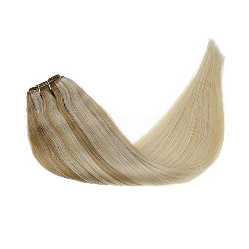 LaaVoo 35cm Rubio Ceniza Balayage Bionda Media Ombre Rubia Platino Straight Hair...