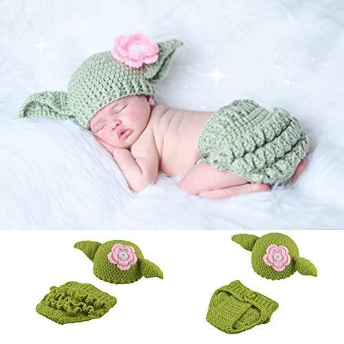 Alician Strickmütze und Shorts für Neugeborene, Star Wars Yoda, kreativ, handgefertigt