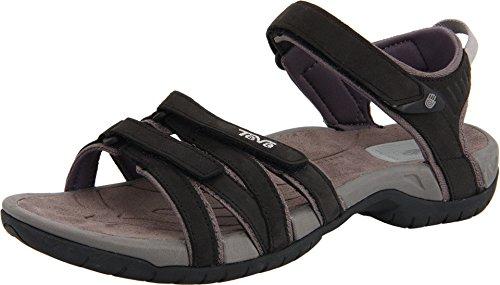 Teva Tirra Leather W's Damen Sport- & Outdoor Sandalen, Schwarz (black 513), EU 41