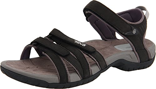 Teva Tirra Leather W's Damen Sport- & Outdoor Sandalen, Schwarz (black 513), EU 37