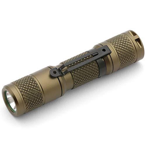 DROP Vega AA/14500 Aluminum Flashlight - EDC Mini Pocket LED Torch, IP68 Waterproof, 5 Modes, 1.2 oz, 650 lumens (OD Green, Cool White)