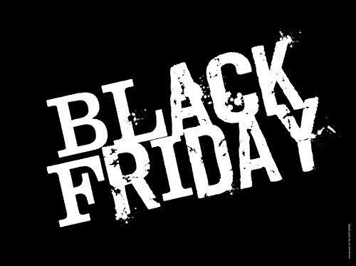 akrocard - Cartel Resistente PVC - Black Friday - Señaletica de informacion- señal Ideal para Colgar y Advertir para comercios, tiendas, locales