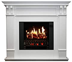 PERFECT FOR NEW HOMES, REMODELS: Whether you are an interior designer, architect, or electric fireplace enthusiast, a MagikFlame is ideal for any living space. Our Trinity is a large white, freestanding electric fireplace that is a cozy focal point f...