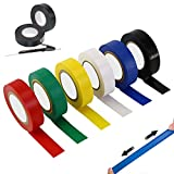 Farben PVC Isolierband PVC Elektriker Klebeband Universal Isolierband Für den Schutz der...