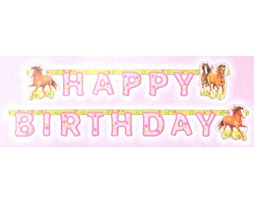 amscan - 551265 - Guirlande Happy Birthday Chevaux - 180 x 15 cm