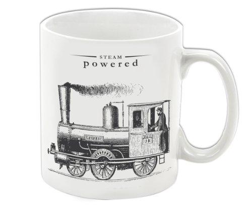 Gift Republic Victoriana Mug en Porcelaine Motif Locomotive à Vapeur Multicolore
