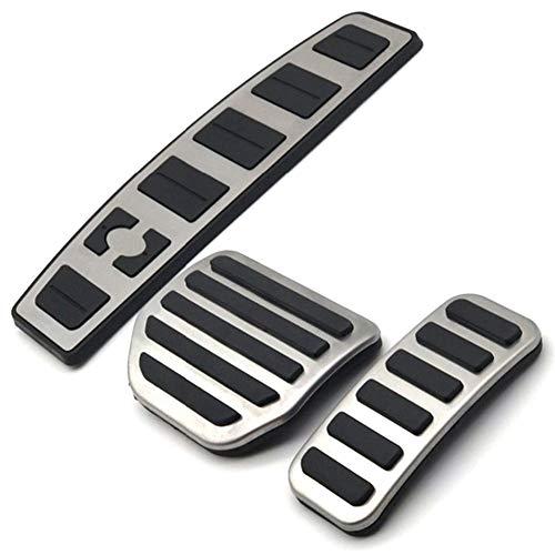 Yuanmei Autotechnik Fit for Land Range Rover Sport/Discovery 3 4 Lr3 Lr4 Gas Accelerator Fußraste Modified-Pedal-Auflage Refit Aufkleber (Color Name : Silver Black)