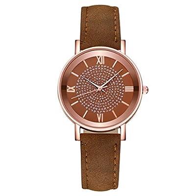 COOKI Women Watches Analog Quartz WatchTeen Girls Leather Band Simple Dial Wristwatch Lover Watch Girl Watch for Women