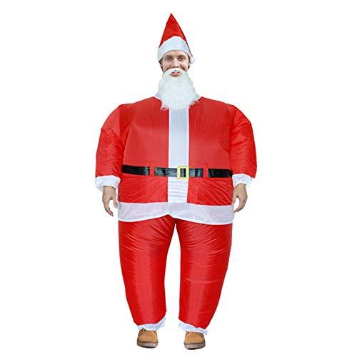 Zoomarlous Uppblåsbar kostym, blow up klädsel, cosplay kostymer, jultomten uppblåsbar kostym vuxna rolig blow up kostym cosplay för julfest