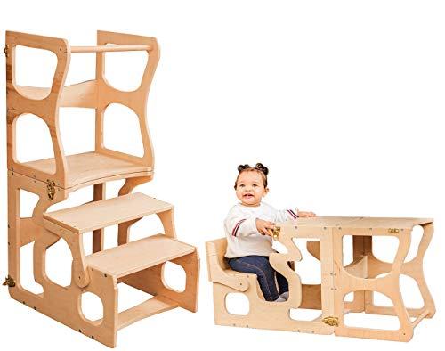 Montessori tower Step stool Activity Kitchen helper Kitchen tower Bathroom