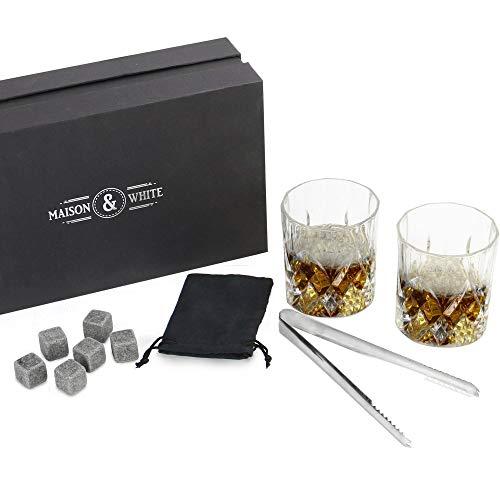 Set de regalo de vidrio para whisky | 2 vasos tradicionales |...