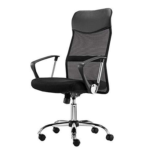 WSDSX Freizeitstühle Büro Drehstuhl Hochlehner Computer Mesh Stuhl Höhenverstellbar Ergonomische Lordosenstütze Langlebig stark