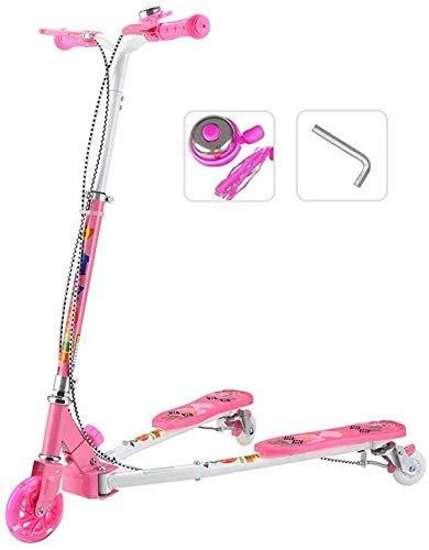 %17 OFF! CFJKN Kick Scooter for Kids, Adjustable Folding Commuter Scooter with Disc Handbrake Flash ...