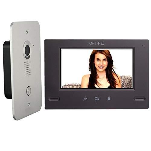 4 Draht Video Türsprechanlage Gegensprechanlage 7'' Monitor Klingel Farb mit oder ohne WLAN Schnittstelle, 1x7'' Monitor