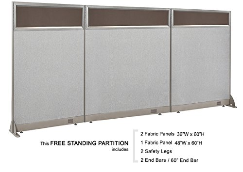 Lowest Prices! GOF Office Partial Tempered Glass Private Freestanding Partition Room Divider Stands ...