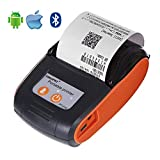 HWUKONG Label Smart Maker, Thermal Printer, 58Mm Thermal Printer Portable Wireless Bluetooth USB Receipt Printer Supports Android, iOS and Windows Compatible with ESC/POS