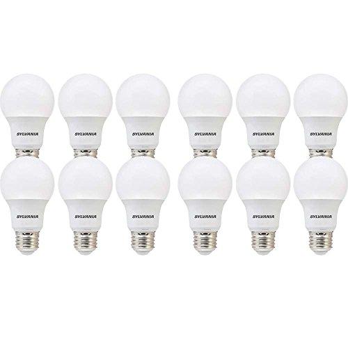 SYLVANIA General Lighting 74470 Sylvania, 60W Equivalent, LED Bulb, A19 Lamp, 12 Pack, Day Light, Energy Saving & Longer Life, Value Line, Medium Base, Efficient 8.5W, 5000K, Daylight, 12 Piece